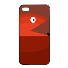 Red Monster Fish Apple Iphone 4/4s Seamless Case (black) by Valentinaart