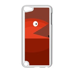 Red Monster Fish Apple Ipod Touch 5 Case (white) by Valentinaart