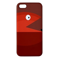 Red Monster Fish Iphone 5s/ Se Premium Hardshell Case by Valentinaart