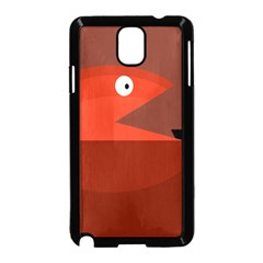 Red Monster Fish Samsung Galaxy Note 3 Neo Hardshell Case (black) by Valentinaart