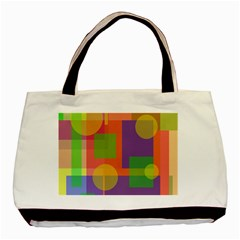 Colorful Geometrical Design Basic Tote Bag by Valentinaart