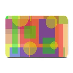 Colorful Geometrical Design Small Doormat  by Valentinaart