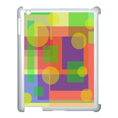 Colorful Geometrical Design Apple Ipad 3/4 Case (white) by Valentinaart