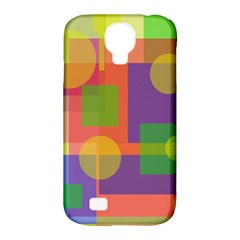 Colorful Geometrical Design Samsung Galaxy S4 Classic Hardshell Case (pc+silicone) by Valentinaart