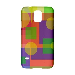 Colorful Geometrical Design Samsung Galaxy S5 Hardshell Case  by Valentinaart
