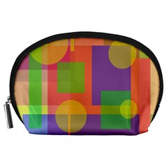 Colorful Geometrical Design Accessory Pouches (large)  by Valentinaart