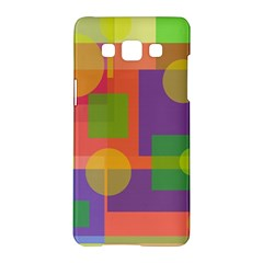 Colorful Geometrical Design Samsung Galaxy A5 Hardshell Case  by Valentinaart