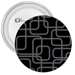 Black and gray decorative design 3  Buttons by Valentinaart