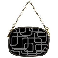 Black And Gray Decorative Design Chain Purses (one Side)  by Valentinaart