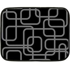 Black And Gray Decorative Design Fleece Blanket (mini) by Valentinaart