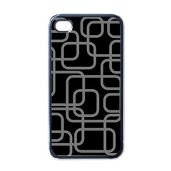 Black And Gray Decorative Design Apple Iphone 4 Case (black) by Valentinaart