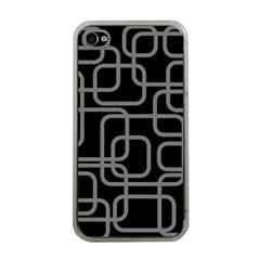 Black And Gray Decorative Design Apple Iphone 4 Case (clear) by Valentinaart