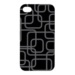 Black And Gray Decorative Design Apple Iphone 4/4s Hardshell Case by Valentinaart