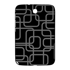 Black And Gray Decorative Design Samsung Galaxy Note 8 0 N5100 Hardshell Case  by Valentinaart