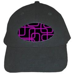 Purple And Black Elegant Design Black Cap by Valentinaart