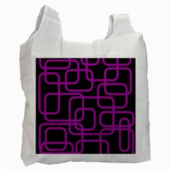 Purple And Black Elegant Design Recycle Bag (one Side) by Valentinaart