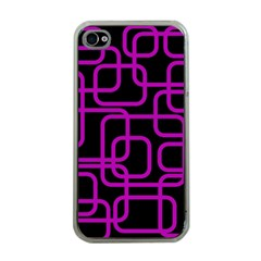 Purple And Black Elegant Design Apple Iphone 4 Case (clear) by Valentinaart