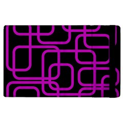 Purple and black elegant design Apple iPad 3/4 Flip Case by Valentinaart