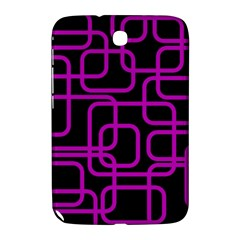 Purple And Black Elegant Design Samsung Galaxy Note 8 0 N5100 Hardshell Case  by Valentinaart