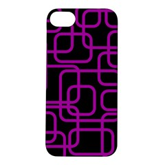 Purple And Black Elegant Design Apple Iphone 5s/ Se Hardshell Case by Valentinaart