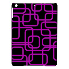 Purple And Black Elegant Design Ipad Air Hardshell Cases by Valentinaart