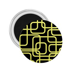 Yellow And Black Decorative Design 2 25  Magnets by Valentinaart