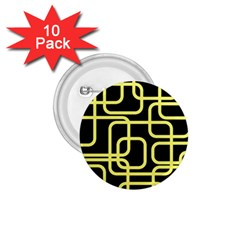 Yellow And Black Decorative Design 1 75  Buttons (10 Pack) by Valentinaart