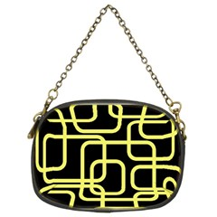 Yellow and black decorative design Chain Purses (Two Sides)  by Valentinaart