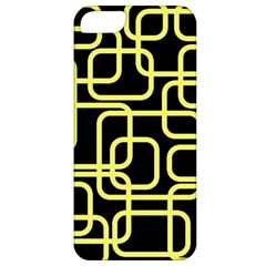 Yellow And Black Decorative Design Apple Iphone 5 Classic Hardshell Case by Valentinaart