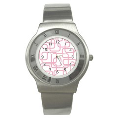 Pink Elegant Design Stainless Steel Watch by Valentinaart