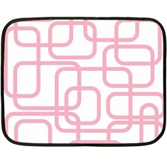 Pink Elegant Design Fleece Blanket (mini) by Valentinaart