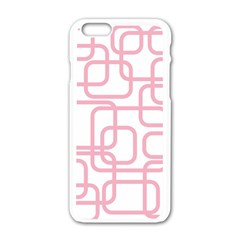 Pink Elegant Design Apple Iphone 6/6s White Enamel Case by Valentinaart