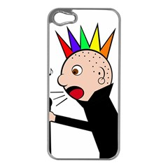 Punker  Apple Iphone 5 Case (silver) by Valentinaart