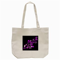Purple Decorative Abstraction Tote Bag (cream) by Valentinaart