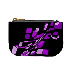 Purple Decorative Abstraction Mini Coin Purses by Valentinaart