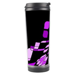 Purple Decorative Abstraction Travel Tumbler by Valentinaart