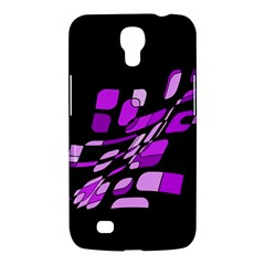 Purple Decorative Abstraction Samsung Galaxy Mega 6 3  I9200 Hardshell Case by Valentinaart