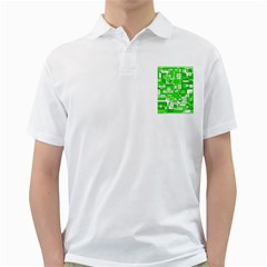 Green Decorative Abstraction  Golf Shirts by Valentinaart
