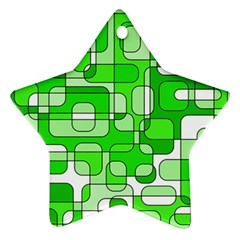 Green Decorative Abstraction  Star Ornament (two Sides)  by Valentinaart