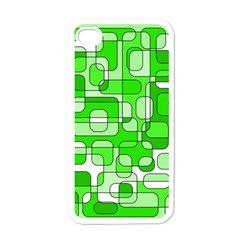 Green Decorative Abstraction  Apple Iphone 4 Case (white) by Valentinaart