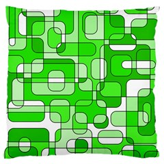 Green decorative abstraction  Large Cushion Case (One Side) by Valentinaart