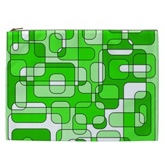 Green Decorative Abstraction  Cosmetic Bag (xxl)  by Valentinaart