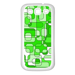 Green Decorative Abstraction  Samsung Galaxy S3 Back Case (white) by Valentinaart
