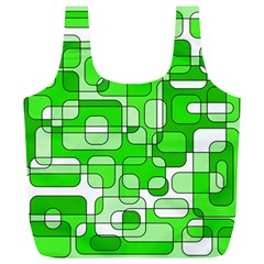 Green decorative abstraction  Full Print Recycle Bags (L)