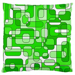Green Decorative Abstraction  Standard Flano Cushion Case (one Side) by Valentinaart