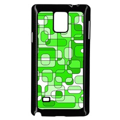 Green decorative abstraction  Samsung Galaxy Note 4 Case (Black) by Valentinaart