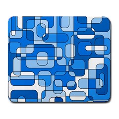 Blue Decorative Abstraction Large Mousepads by Valentinaart