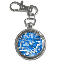 Blue Decorative Abstraction Key Chain Watches by Valentinaart