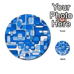 Blue Decorative Abstraction Multi Purpose Cards (round)  by Valentinaart