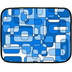 Blue Decorative Abstraction Fleece Blanket (mini) by Valentinaart